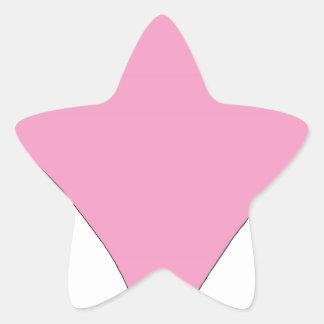 Adesivo Estrela o diamante cor-de-rosa