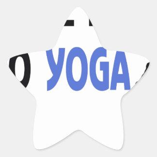 Adesivo Estrela o homem real faz a ioga