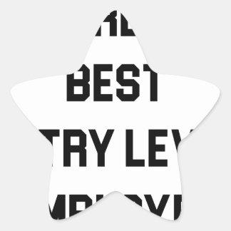 Adesivo Estrela O melhor empregado do nível básico