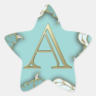 Adesivo Estrela O melhor fundo do monograma da inicial da letra do