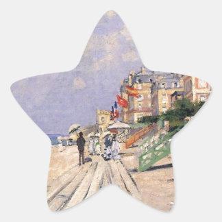 Adesivo Estrela O passeio à beira mar em Trouville Claude Monet
