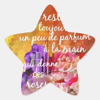 Adesivo Estrela O perfume dos rosas ainda permanece na mão