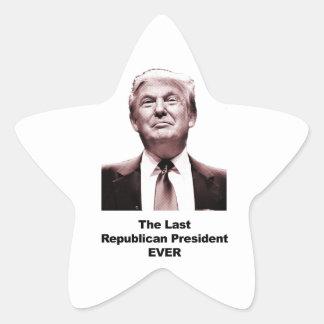 Adesivo Estrela O último presidente republicano Nunca