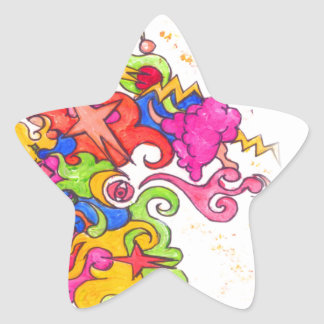 Adesivo Estrela O unicórnio Fart
