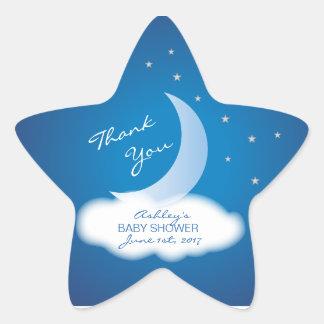 Adesivo Estrela Obrigado Moon e Stars o chá de fraldas -