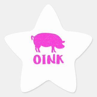 Adesivo Estrela Oink porco