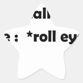 Adesivo Estrela olhos do rolo