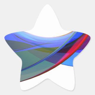 Adesivo Estrela Ondas do abstrato