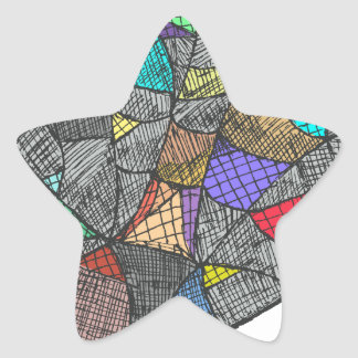 Adesivo Estrela Opal preto