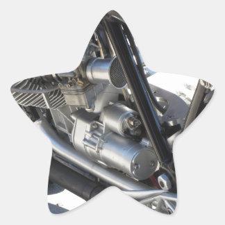 Adesivo Estrela Opinião lateral cromada motocicleta do detalhe do