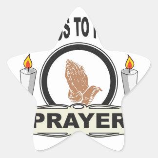 Adesivo Estrela oração o acesso ao poder