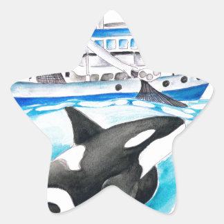 Adesivo Estrela Orca e o barco