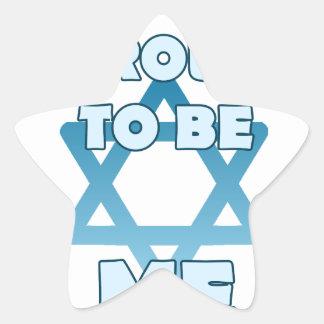 Adesivo Estrela Orgulhoso ser judaico