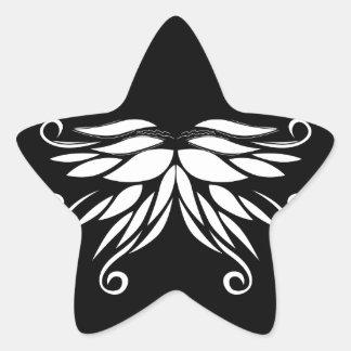 Adesivo Estrela Ornamento brancos pretos do Nordic de Sibéria