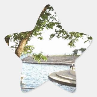 Adesivo Estrela Os anos 70 das proximidades do lago de Chicago do