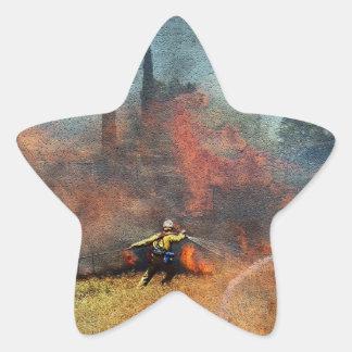 Adesivo Estrela Os sapadores-bombeiros são nossos heróis