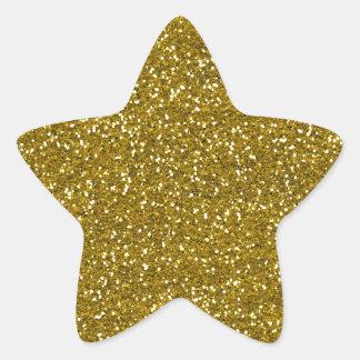 Adesivo Estrela Ouro à moda do brilho
