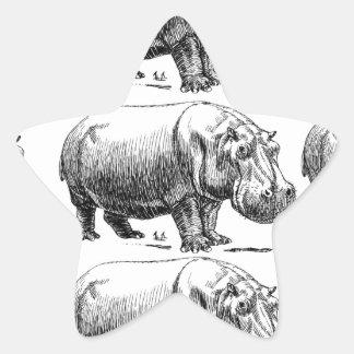 Adesivo Estrela ouro do hippopotamus