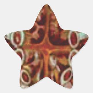 Adesivo Estrela oval das figuras e das formas