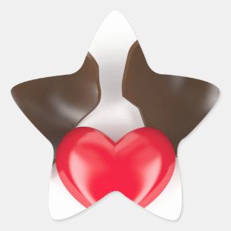 Adesivo Estrela Ovo e coração de chocolate