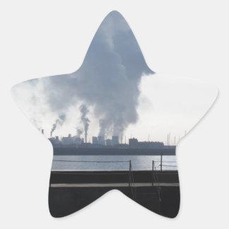 Adesivo Estrela Paisagem industrial ao longo da costa
