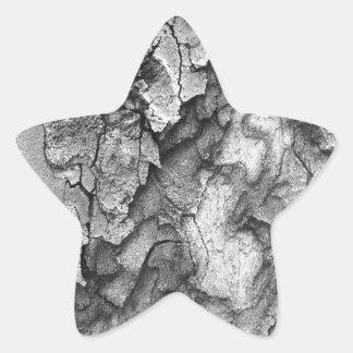 Adesivo Estrela Para o amor da natureza - latido do preto & do