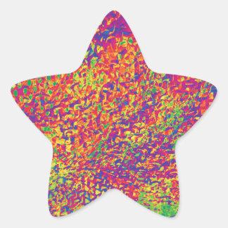 Adesivo Estrela Para o amor das cores - Psychadelic