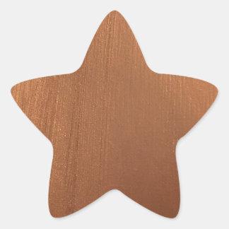 Adesivo Estrela Para o amor de metálico - reflexo de cobre