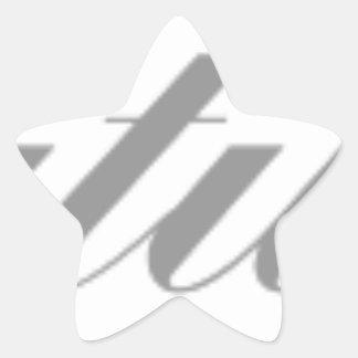Adesivo Estrela parabéns
