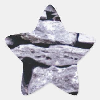 Adesivo Estrela parede empilhada da rocha