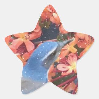 Adesivo Estrela Pássaro da neve