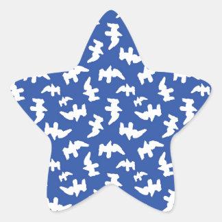 Adesivo Estrela Pássaros que tiram o design do teste padrão