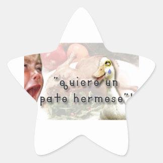 Adesivo Estrela Pato e menina