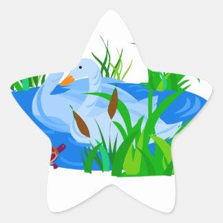 Adesivo Estrela Patos na água