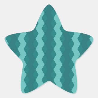 Adesivo Estrela Pattern Blue Stripes - Linhas zigzag