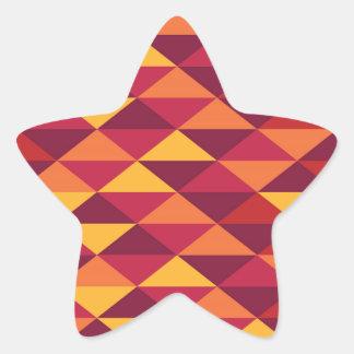 Adesivo Estrela Pattern Triangles Orange - Padrão vermelho