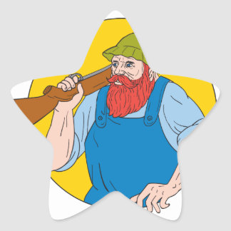 Adesivo Estrela Paul Bunyan o desenho do círculo do caçador