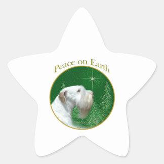 Adesivo Estrela Paz de Sealyham Terrier na terra