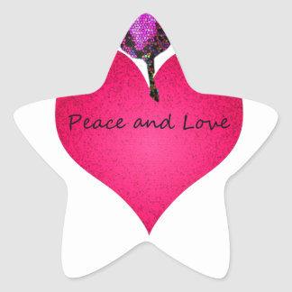 Adesivo Estrela paz e amor
