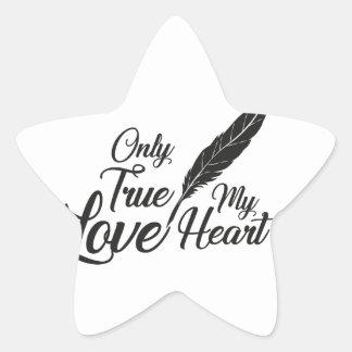 Adesivo Estrela Pena verdadeira do amor da ilustração