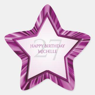 Adesivo Estrela Personalize a estrela do cetim da orquídea do