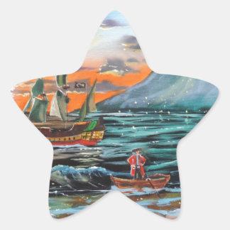 Adesivo Estrela Pintura de Bell do funileiro da angra do gancho de