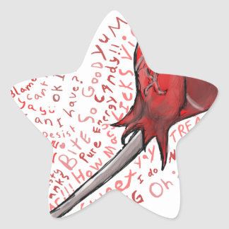 Adesivo Estrela Pirulito