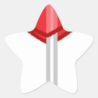 Adesivo Estrela pirulito vermelho do coração