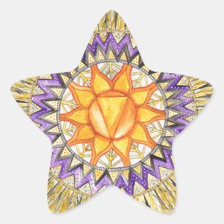 Adesivo Estrela Plexo solar Chakra