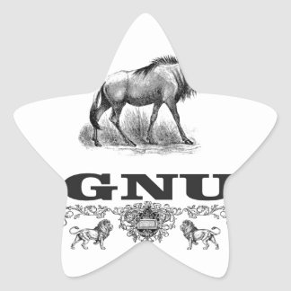Adesivo Estrela poder do gnu