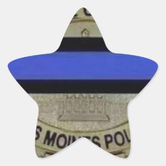 Adesivo Estrela Polícia de Des Moines