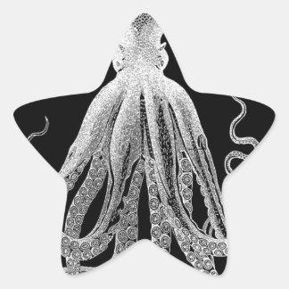 Adesivo Estrela Polvo preto e branco