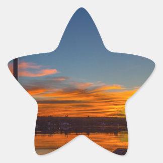 Adesivo Estrela Por do sol da baía de Liverpool
