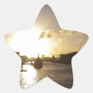 Adesivo Estrela Por do sol de Londres